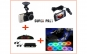 Camera auto fata-spate + Kit senzori pentru parcare + 2 Metri fir cu neon lumina ambientala