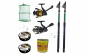 Pachet de pescuit cu 2 lansete eastshark 2.4 m, mulinete si accesorii