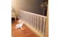 Plasa de siguranta pentru copii, balustrade de la scari si terase, alb, 3 x 0.8 m