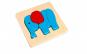 Mini Puzzle lemn, Elefant,Tooky Toy
