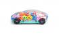 Masinuta cu carcasa transparenta si interior multicolor cu lumini si sunete