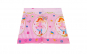 Fata de masa pentru petrecere copii, 118 x 180 cm, model personaje, flori, fluturi, plastic, Duni
