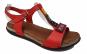 Sandale rosii din piele naturala foarte moi si comode