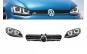 Ansamblu Faruri R-look 3D LED DRL + Grila compatibil cu VW Golf 7 VII (2012-2017) R400 Design Argintiu