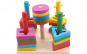 Set de cinci coloane geometrice colorate