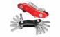 Organizator compact pentru 12 chei cu design de breloc