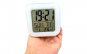 Ceas luminos cu alarma afisaj led termometru camera copii, Roblox, alb