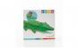 Figurina gonflabila tip crocodil, de culoare verde, cu manere de prindere, 170 x 43 cm