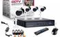 Sistem supraveghere CCTV kit DVR 4 camere exterior/interior, cu HDMI, internet, infrarosu, optiune vizionare de pe Smartphone, accesorii complete, la 699 RON in loc de 1500 RON
