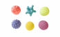 Set 6 mingi senzoriale cu chitaitoare pentru bebelusi