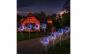 Lampa solara  cu suport metalic, 100 LED, multicolor