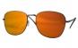 Ochelari de soare Aviator Oglinda Portocaliu inchis cu reflexii - Maro
