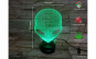 Lampa 3D LED, Alien, 7 culori, USB