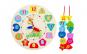 Jucarie pentru copii din lemn tip ceas cu cifre detasabile