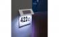 Numar de casa din inox, cu iluminare LED si alimentare solara
