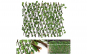 2 x Gard viu artificial extensibil vesnic verde 180x60, cadou ghirlanda