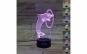 Lampa 3D LED - FizioLight, Delfin, 7 culori, alimentare USB.