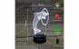 Lampa 3D LED, Delfin, 7 culori, USB