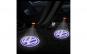 Set 2 proiectoare portiere, cu logo, dedicate VW Golf 5, 6, 7, Passat B6, B7, CC, Jetta, Touareg