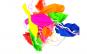 Set 10 baloane colorate cu snur, 30 cm