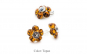 Set floare - cercei cu tija si
