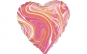Set 9 baloane roz marmorat