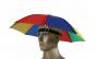 Umbrela pentru cap multicolora