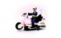 Motociclist politist