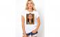 Tricou dama alb - Dali - Frame