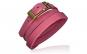 Bratara piele naturala roz cu catarama
