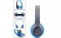 Casti bluetooth cu microfon si radio, P47 de culoare albastra
