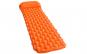 Saltea 2 in 1 cu perna gonflabila, Quasar & Co., 190 x 60 x 6 cm, impermeabila, portocaliu