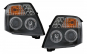 Set 2 faruri Angel Eyes compatibil cu Citroen C2 (2003-2009), Negre