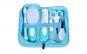 Set ingrijire bebe cu 6 accesorii, cu gentuta, albastru, 24x26x3 cm