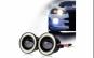 Set 2 proiectoare auto cu LED Angel Eyes, 76mm, Inel Albastru, Lumina Alba