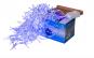 Ghirlanda  de lumini pentru Craciun  - tip franjuri - 100 LEd-uri alb / albastre