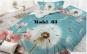 Lenjerie 5D, 4 piese din Bumbac Satinat