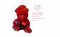 Urs de plus Valentine's Day, 37 cm, cu mesaj I Love You