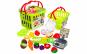 Set jucarii pentru copii cos cu fructe si legume de taiat, Super Market,15 piese VG1009