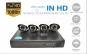 Sistem de Supraveghere Performant FULL HD 2 MPx cu 4 camere IR (exterior/interor), rezolutie 1080P, Internet si Vizionare pe Smartphone, cu Accesorii de Instalare Incluse