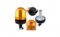 Girofar auto cu efect de rotatie sau stroboscopic 12V/24V orange cu LED-uri si suport tubular