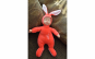 Jucarie de plus - bebe imbracat in iepuras, rosu, 30cm
