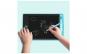 Tableta de scris, albastra, 18x11.5x0.9