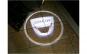 Set 2 holograme usi led universale cu baterii, Dacia
