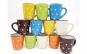 Set 12 cani ceramica, model colorat