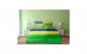 Lenjerie dubla Heinner Home, din bumbac, 6 piese, 144TC, Green Stars